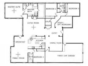 open one story house plans one story house plans with one story floor plans one story open floor house plans
