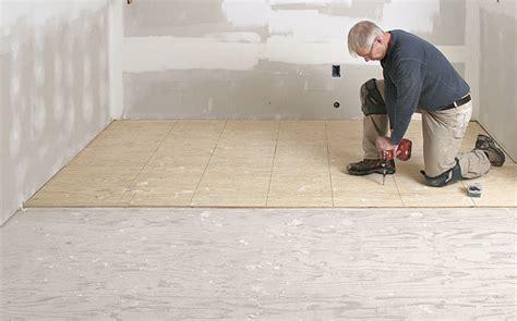 prep a subfloor for tile homebuilding