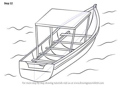 How To Draw A Cartoon Boat Step By Step by Learn How To Draw Boat In Water Boats And Ships Step By