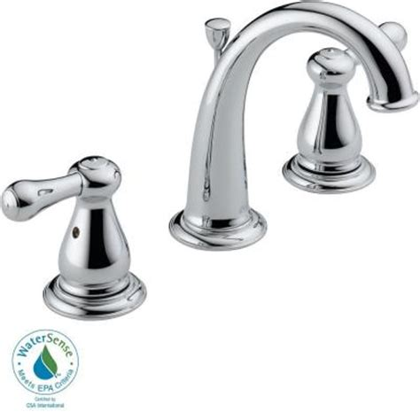 delta leland 8 in widespread 2 handle high arc bathroom faucet in chrome