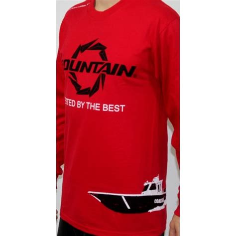Fountain Boats Apparel by Fountain Red Coast Guard Long Sleeve T