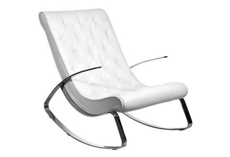 fauteuil a bascule simili cuir acier inox 69x107x91cm j line j line