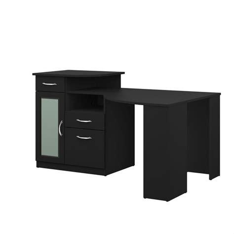 Black Corner Computer Desk by Bush Vantage Corner Home Office Black Computer Desk Ebay
