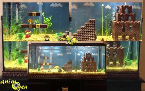l univers de mario bros dans un aquarium pour les fans de jeux vid 233 os animogen