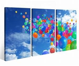 Bild 3 Teilig Auf Leinwand : leinwandbild 3 tlg luftballons bunte abstrakte kunst leinwand bild bilder auf keilrahmen holz ~ Markanthonyermac.com Haus und Dekorationen