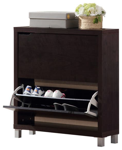 simms brown shoe cabinet modern shoe storage other metro by baxton studio