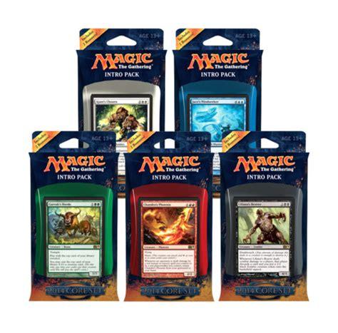 all 5 magic 2014 m14 intro packs magic products 187 preconstructed decks 187 intro decks mtg
