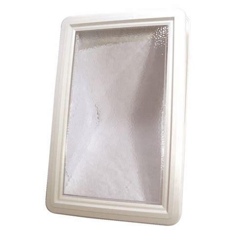 hublot plastique rectangulaire pour porte de garage bricozor bricozor