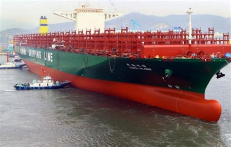 china shipping baptise le plus grand porte conteneurs du monde