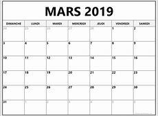 mars 2019 calendrier imprimable calendrier gratuit