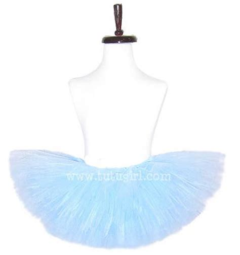 Solid Colored Light Blue Pastel Tutu For Dress Up And