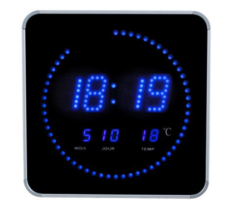horloge led digitale bleu horloges but