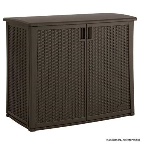 Home Depot Outdoor Storage Cabinets by Suncast 97 Gal Resin Outdoor Patio Cabinet Bmoc4100 The