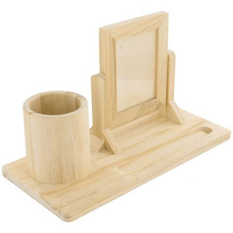 set bureau pot a crayons cadre photo en bois 224 d 233 corer
