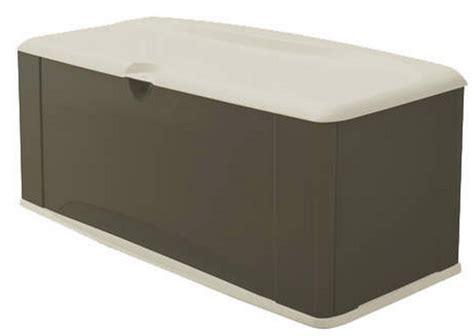 new 121 gallon xl deck storage box rubbermaid outdoor