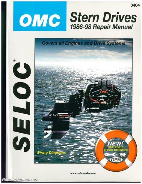 Boat Stern Repair by Omc Cobra Stern Drive Boat Engine Repair Manual 1986 1998