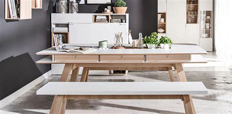 Banc Design Blanc Et Chêne Pour Salle à Manger  4you Vox