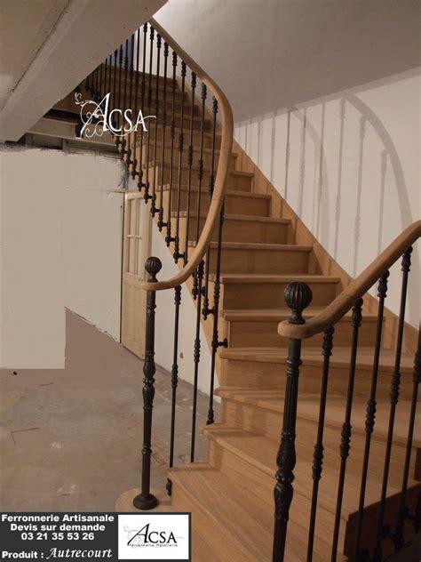 escalier bois et re fer autrecourt ferronnerie