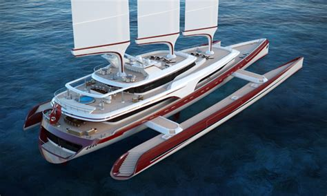 Huge Catamaran Yacht by Dragonfly 80 Metre Trimaran Concept Superyacht World