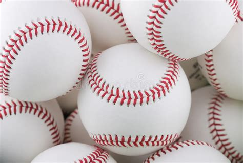 Bunch Of Baseballs Stock Photo Image Of Many, Alot