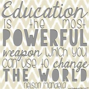 Education Is The Most Powerful Weapon Poster : 17 best images about teacher gifts on pinterest teaching cute teacher gifts and homework pass ~ Markanthonyermac.com Haus und Dekorationen