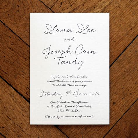 Love Letter Wedding Invitation Set And Save The Date By