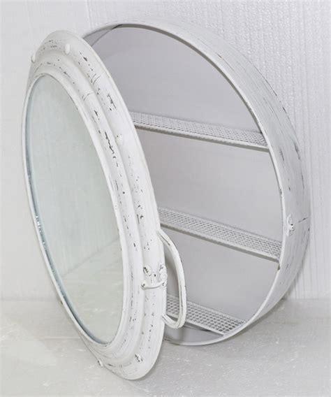 white metal porthole mirror cabinet modern medicine cabinets