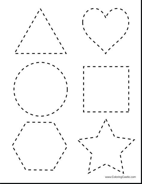 Printable Printable Shape Tracing Sheets
