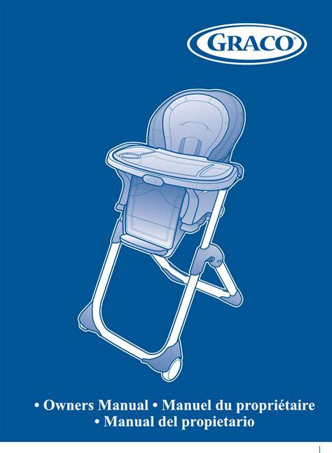 graco high chair 1762131 user guide manualsonline