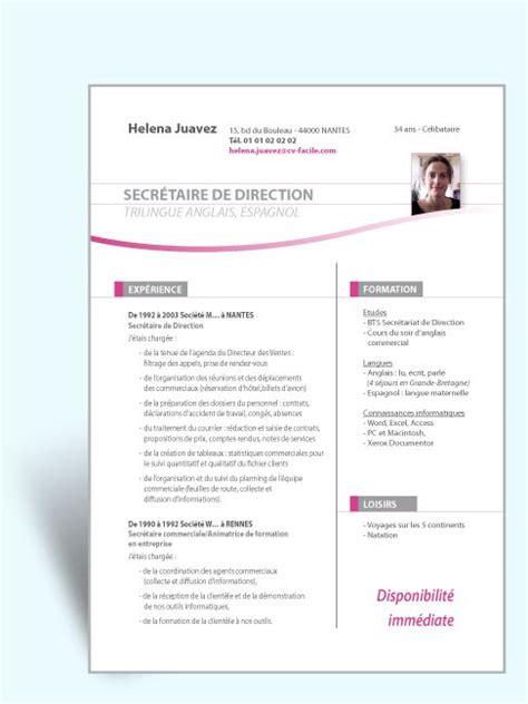modele cv original assistant de direction exemple mise 1 design