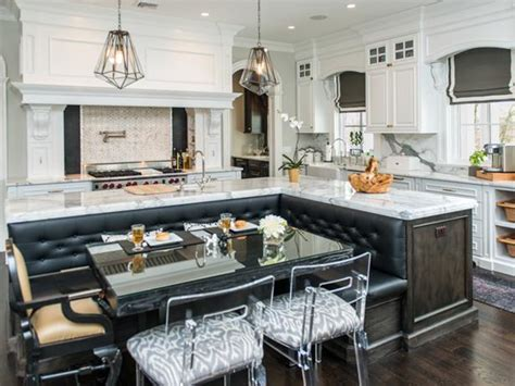 kitchen island with booth seating modern home design and decor