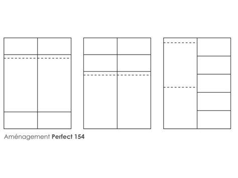 Armoire 2 Portes L154 Cm Perfect Coloris Blanc  Vente De