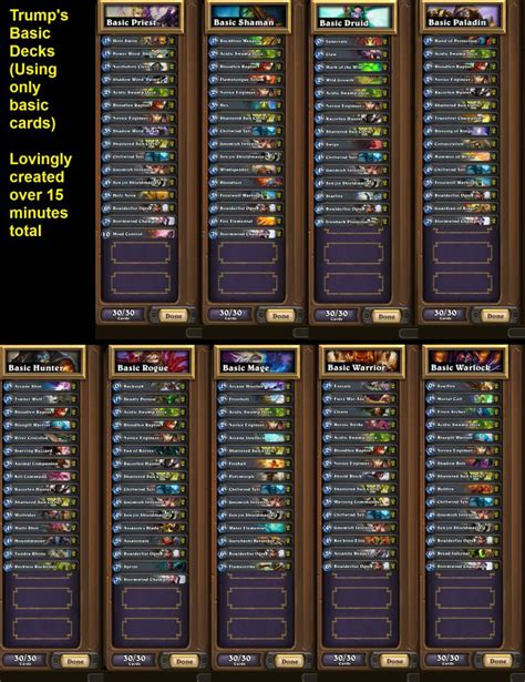 hearthstone basic deck from mah outs