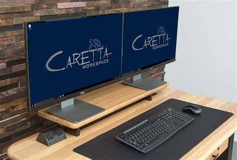 loft desktop riser shelf ash caretta workspace