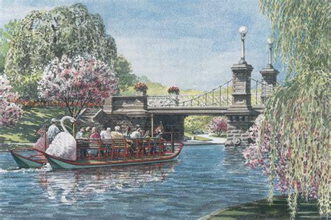 Swan Boats Boston Public Garden by Quot Swan Boat Boston Public Garden Quot Kathleen Mcnally