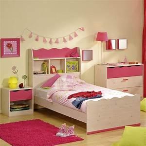 Regal über Bett : kinderbett m dchenbett bett 90x200 mit regal in kiefer nachbildung pink ebay ~ Markanthonyermac.com Haus und Dekorationen