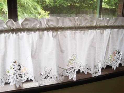 white batten lace cotton caf 233 curtain trim ebay