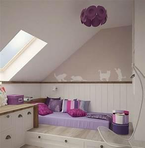 Wandgestaltung Schlafzimmer Lila : kinderzimmer wandgestaltung 50 ideen mit farbe tapete ~ Markanthonyermac.com Haus und Dekorationen