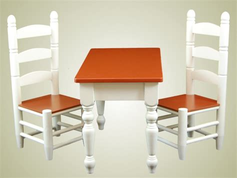 american doll furniture farmhouse collection farm table chairs for american
