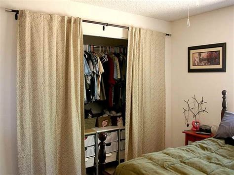 Ideas For Using Curtains As Closet Doors