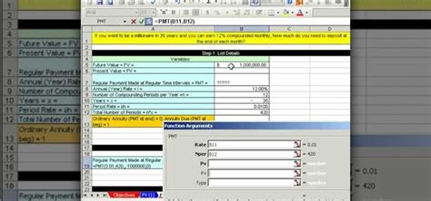 ms excel future value formula investment or annuity in