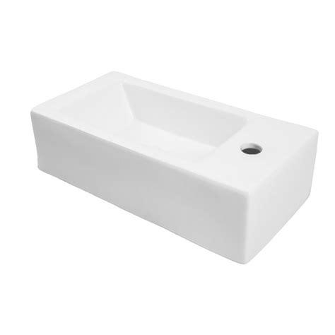decolav 20 quot x 10 quot right vessel above counter bathroom sink