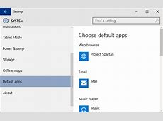 How To Set Default Apps in Windows 10 Next of Windows