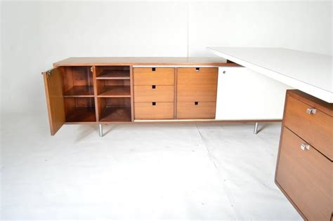 george nelson for herman miller l shaped executive desk with return at 1stdibs