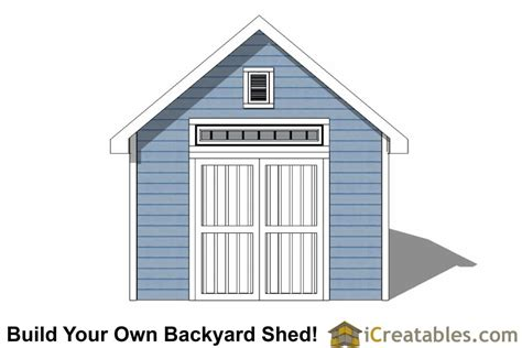 12x12 traditional backyard shed plans icreatables