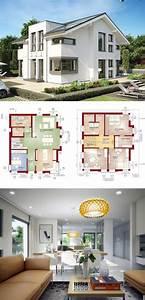 Moderne Häuser Mit Grundriss : einfamilienhaus mit satteldach concept m 152 bien zenker haus bauen moderne architektur ~ Markanthonyermac.com Haus und Dekorationen