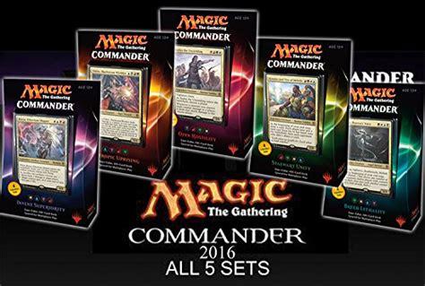 commander 2016 mtg magic the gathering set of all 5 decks