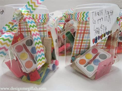 Favors For An Art Birthday Party