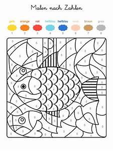 Kinder Bilder Malen : kostenlose malvorlage malen nach zahlen fische ausmalen zum ausmalen ~ Markanthonyermac.com Haus und Dekorationen