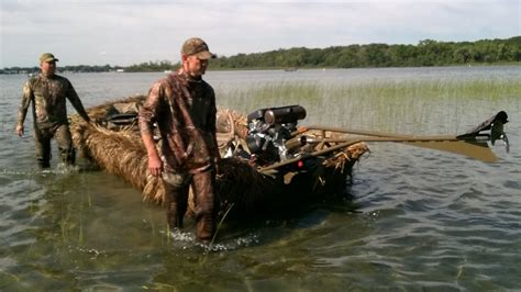 Duck Hunting Without Boat by Duck Goose Hunting Boat Blind Youtube